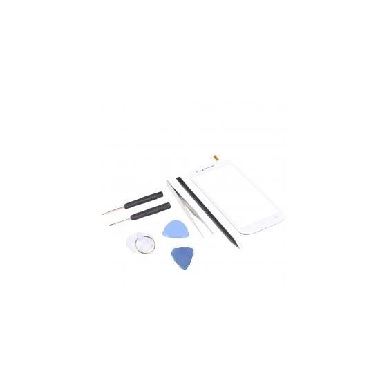 Kit de réparation VItre Tactile Blanc - Wiko Cink Five
