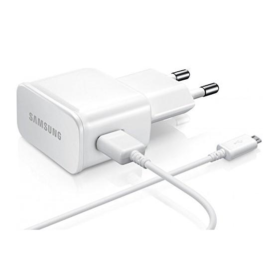 Chargeur Secteur 2A + Câble micro USB couleur Blanc - Samsung