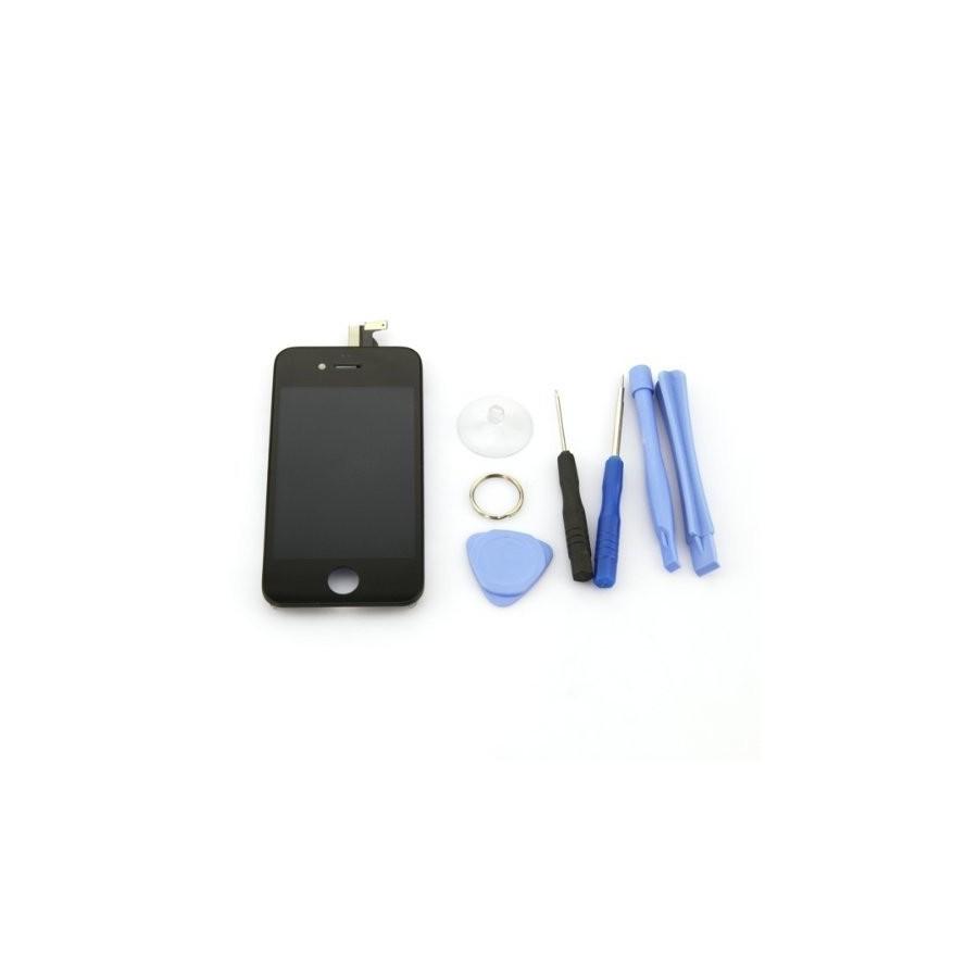 ecran lcd noir pour iphone 4s kit de 8 outils. Black Bedroom Furniture Sets. Home Design Ideas