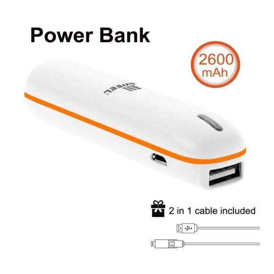 Batterie de secours Power Bank tube de 2600mAh