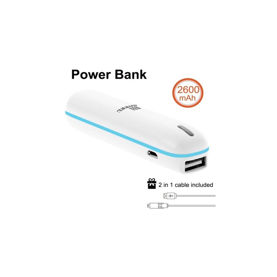 Batterie de secours Power Bank tube de 2600mAh