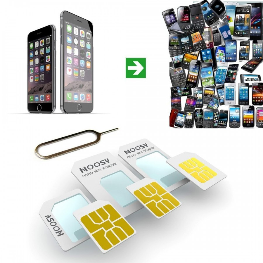 Adaptateur carte SIM + extraction de carte SIM pour iPhone