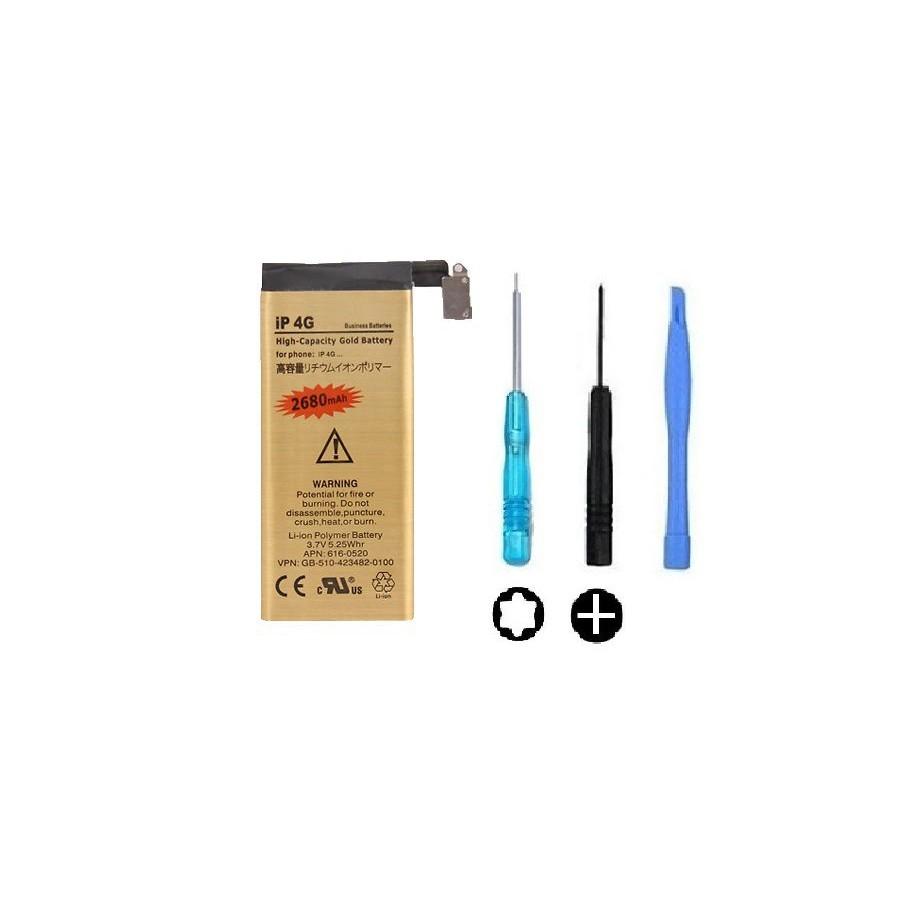Batterie Gold Haute Capacité 2680mah + Outils - iPhone 4