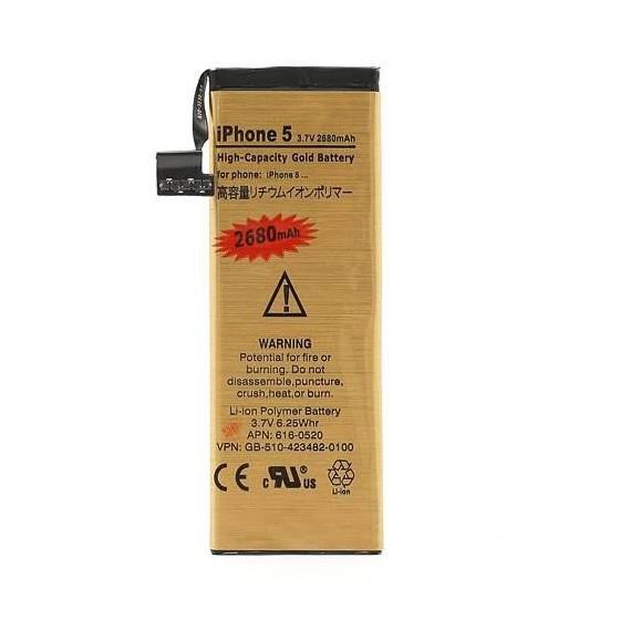 Batterie Gold Haute Capacité 2680mah + Outils - iPhone 5
