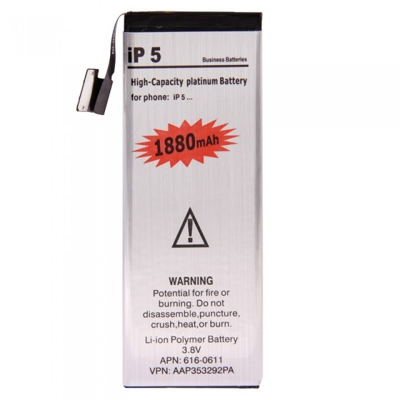 Batterie Platinum 1880mAh + Outils - iPhone 5