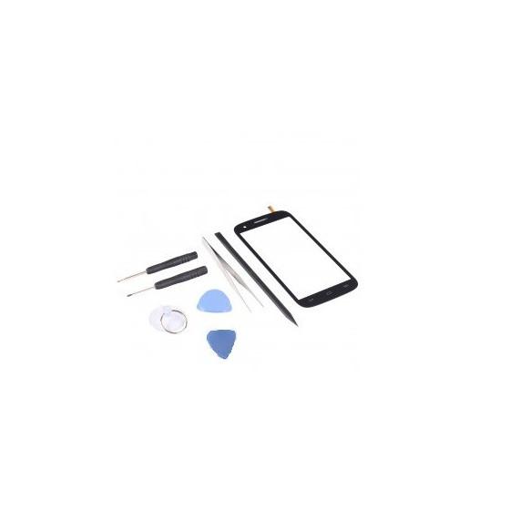 Kit de réparation VItre Tactile Noire - Wiko Cink Five