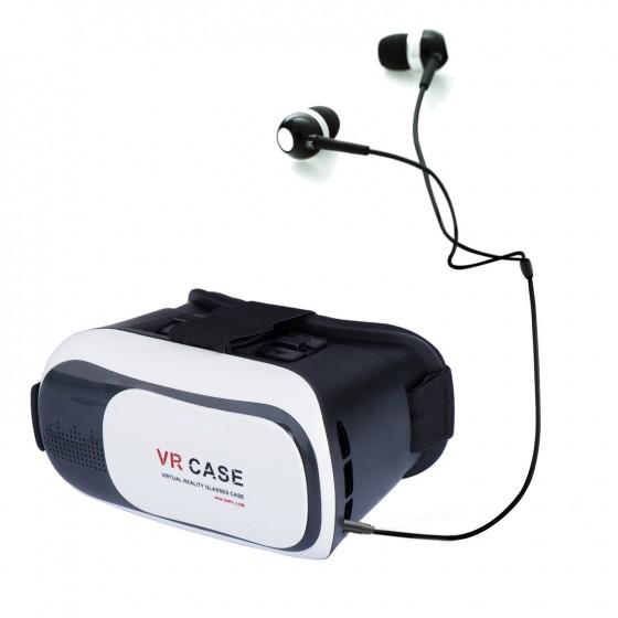 Lunettes casque réalité virtuelle 3D VR BOX Gamepad télécommande iPhone Samsung