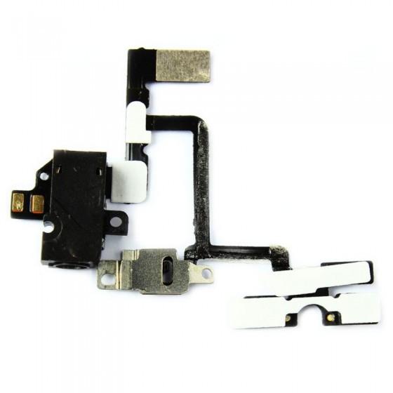 Nappe prise jack, vibreur et volume NOIR - iPhone 4