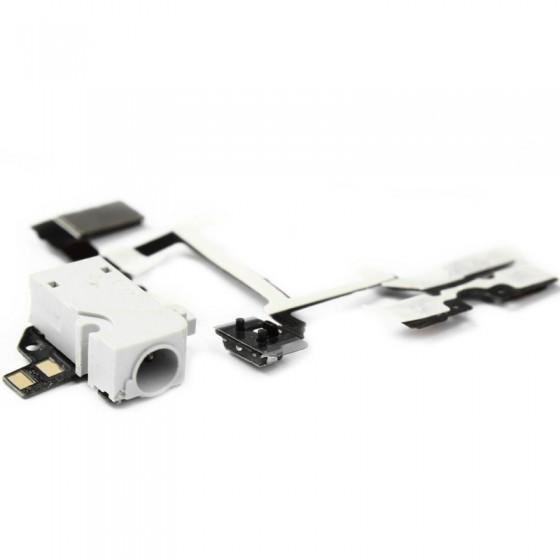 Nappe prise jack, vibreur et volume Blanc - iPhone 4