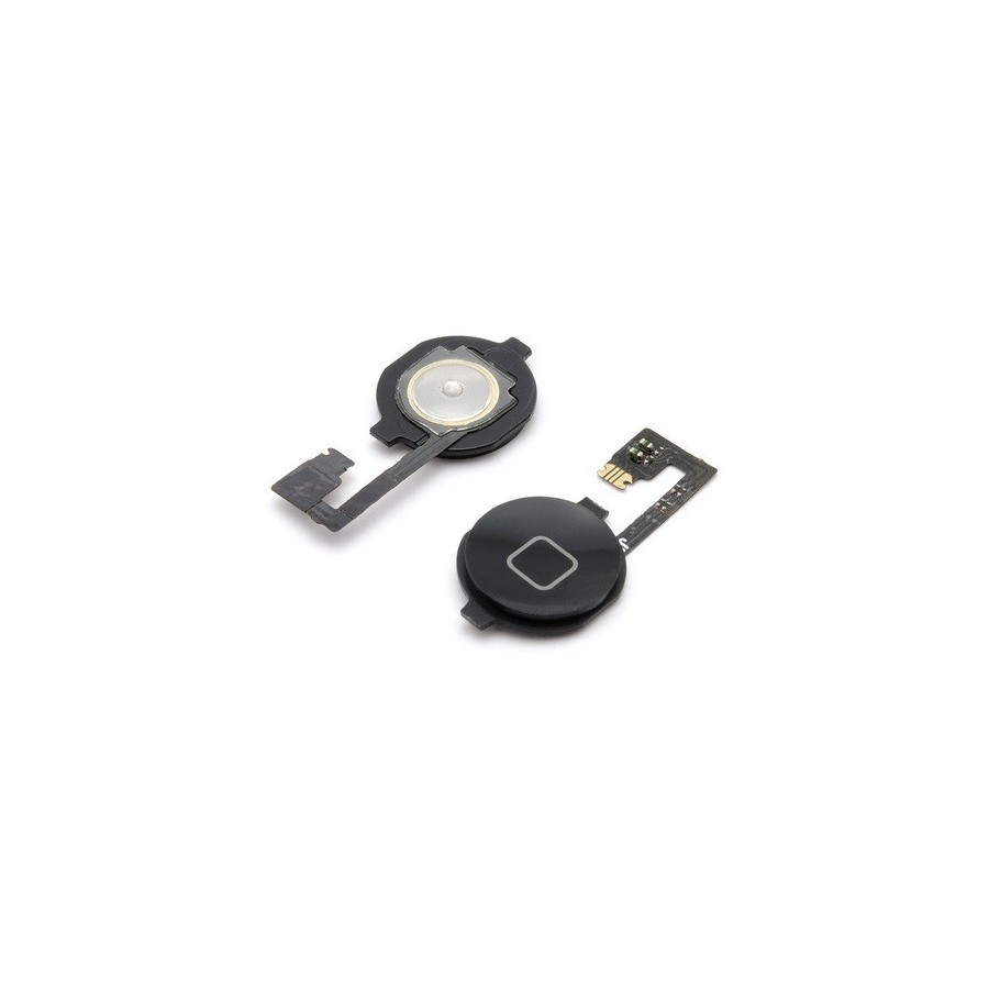 Bouton home noir + nappe - iPhone 4