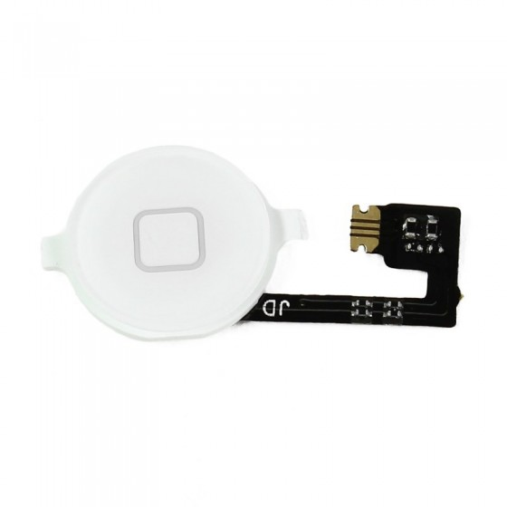 Bouton home Blanc + nappe - iPhone 4S