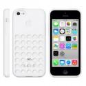 Coque en Silicone Apple MF039ZM/A pour iPhone 5C - Blanc