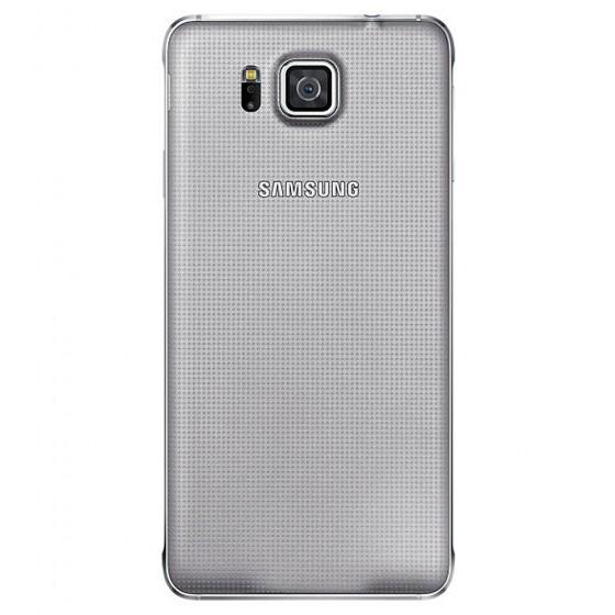 Samsung Vitre Coque Arrière  Argent Galaxy Alpha
