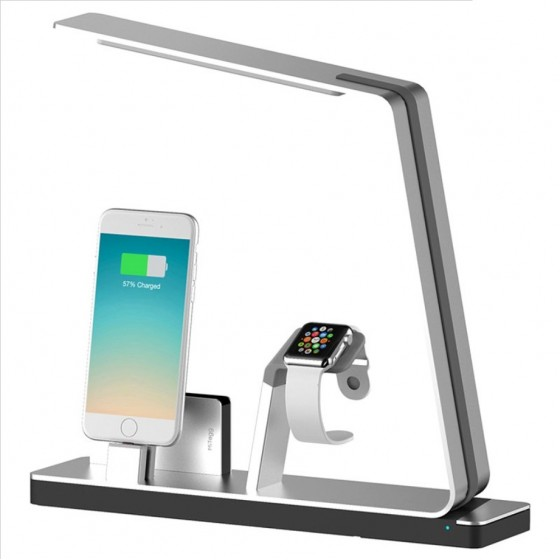 MiTagg NuDock Power Lampe Station d'accueil Allu- Apple Watch, iPhone 7/6/5