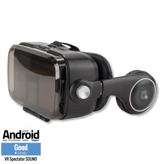 Casque de Réalité Virtuelle, 4smarts Spectateur SOUND Universelle VR - Noir