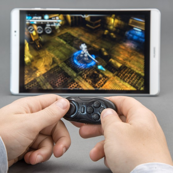 Mini GamePad Bluetooth, 4smarts Basic pour iOS et Android  - Noir