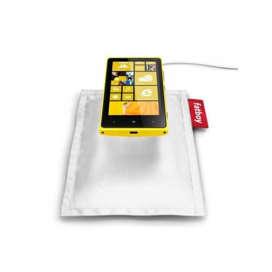 Nokia Chargeur Induction Coussin FATBOY - Lumia 820/Lumia 920/Lumia 925 -  Blanc.