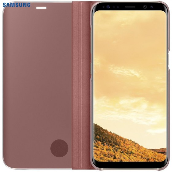 SAMSUNG Coque CLEAR VIEW EF-ZG955CP pour Samsung Galaxy S8+  Rose