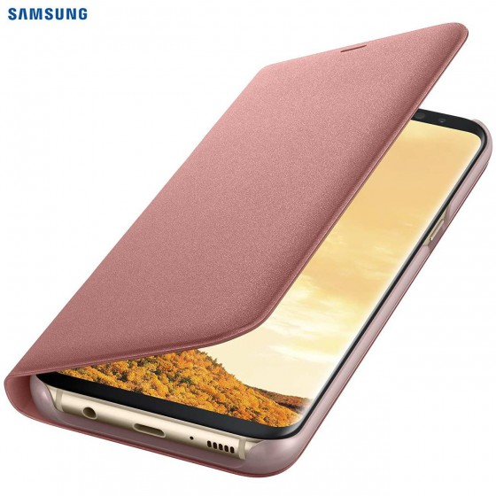 SAMSUNG Coque LED View EF-NG950PP pour Samsung Galaxy S8 - Rose