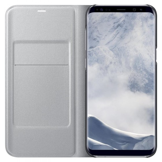 SAMSUNG Coque LED View EF-NG955PS pour Samsung Galaxy S8+ Silver