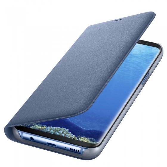SAMSUNG Coque LED View EF-NG955PL pour Samsung Galaxy S8 Plus Bleu