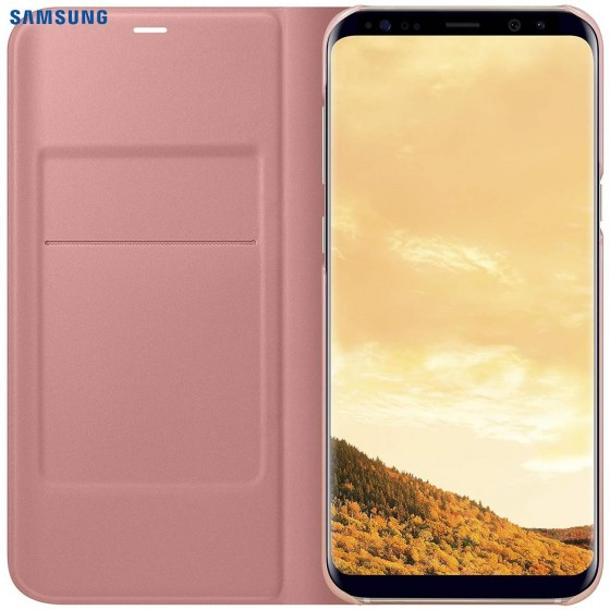 SAMSUNG Coque LED View EF-NG955PP pour Samsung Galaxy S8 Plus Rose