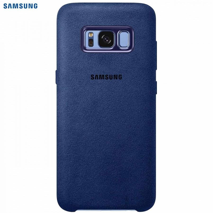 SAMSUNG Coque ALCANTARA EF-XG950AL pour Samsung Galaxy S8 - Bleu