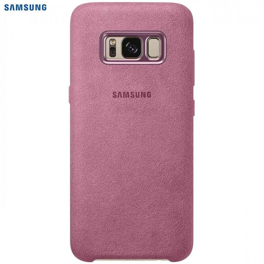 SAMSUNG Coque ALCANTARA EF-XG950AP pour Samsung Galaxy S8 - Rose