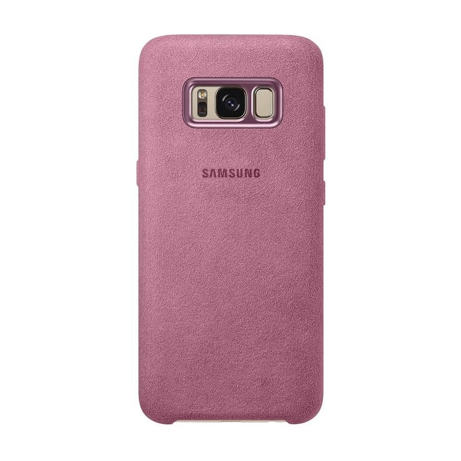 SAMSUNG Coque ALCANTARA EF-XG955AP pour Samsung Galaxy S8 Plus Rose