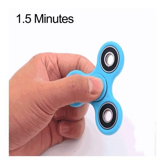 Anti Stress HAND SPINNER 1.5 minute - Bleu Clair