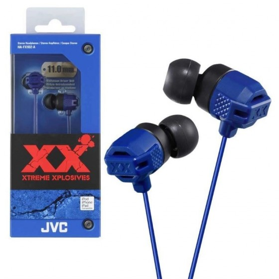 JVC Ecouteur Stéréo HA-FX102-A Bleu