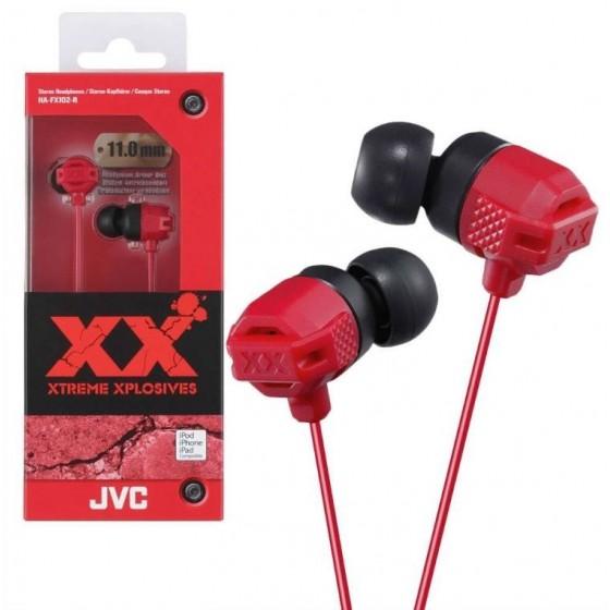 JVC Ecouteur Stéréo HA-FX102-R Rouge