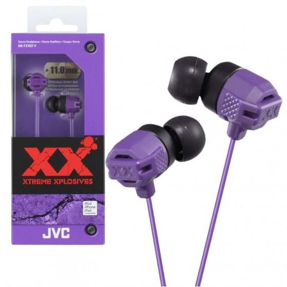 JVC Ecouteur Stéréo HA-FX102-V Violet