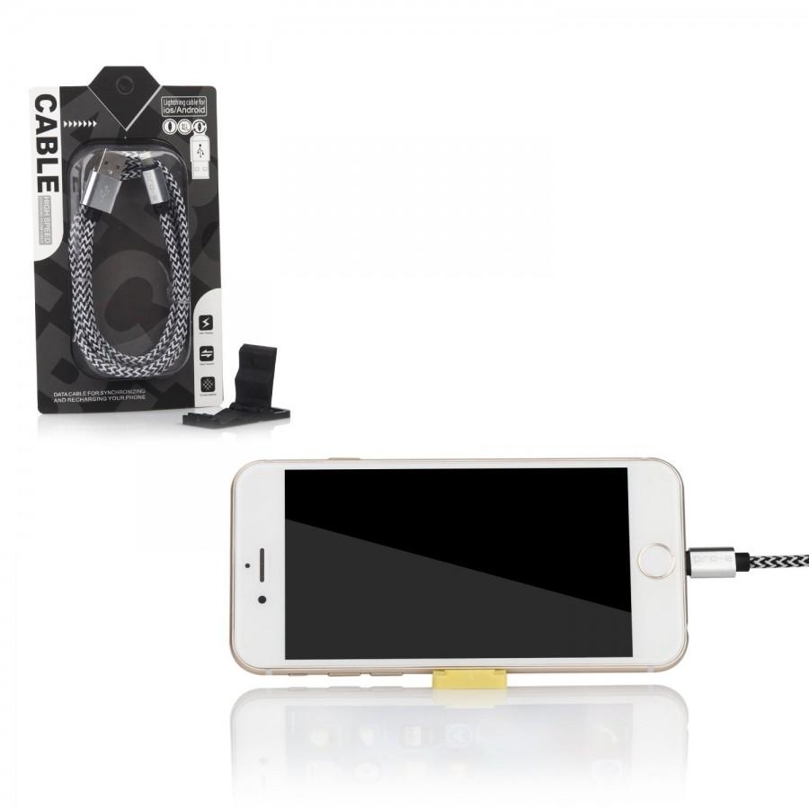 Câble USB Lightning 3m tressé incassable pour iPhone et iPad – Allu