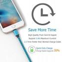 Câble USB Lightning 3m tressé incassable pour iPhone et iPad – Bleu