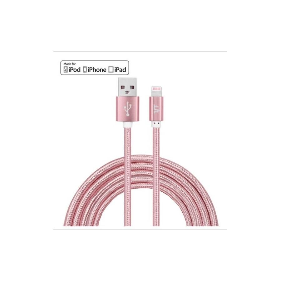 VEO | Câble tressé incassable, 8 pin pour recharge et