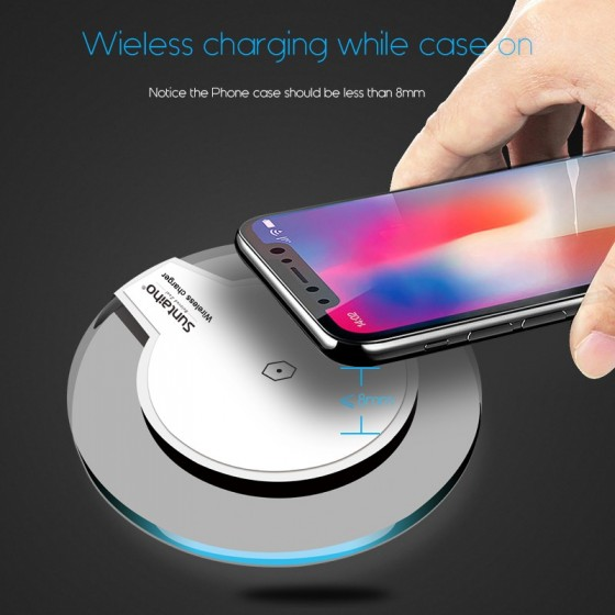 Qi Chargeur Induction sans fil pour Samsung,iPhone, LG..