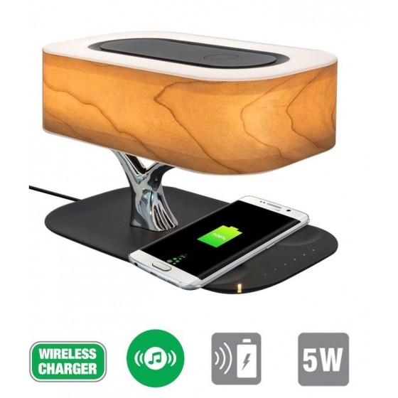 2 en 1 Lampe et Chargeur induction Station Smart-Bonsai-QI