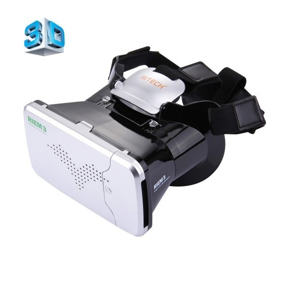 RITECH BELT 3 Casque de réalité virtuelle de 3.5 à 6.0 pouces avec télécommande - Noir