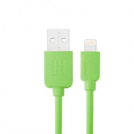 Câble Lightning USB iOS9 1m - Vert