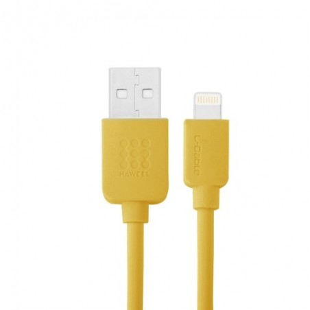 Câble Lightning USB iOS9 1m - Jaune