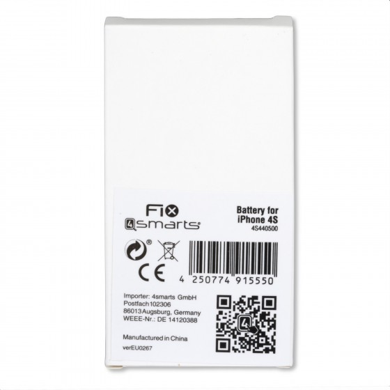 FIX4smart Batterie pour iPhone 4S