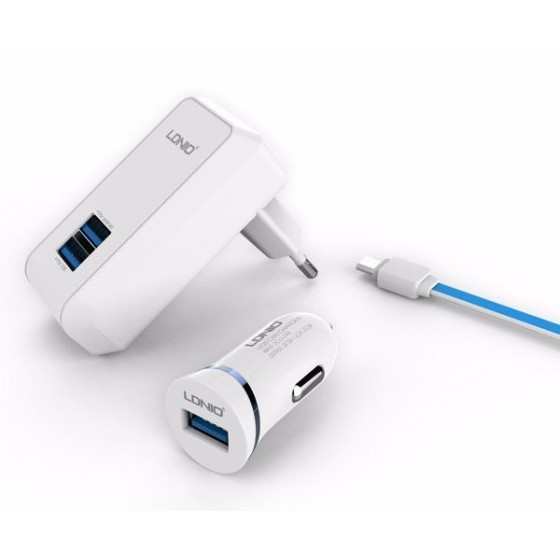 Kit 3 en 1 Recharge Lightning - iPhone 5/6/7/8, iPad