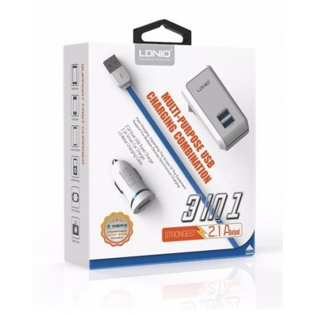 Kit 3 en 1 Recharge Lightning - iPhone 5/6/7/8, iPad