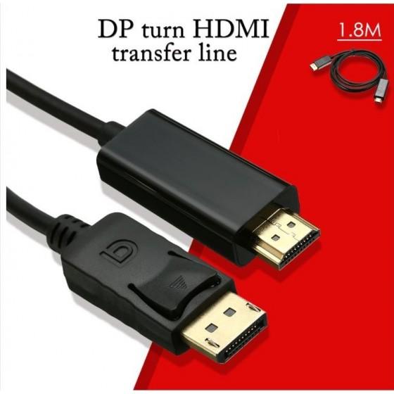 Câble DisPlayPort mâle HDMI mâle 1.80m