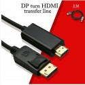 Câble DisPlayPort mâle HDMI mâle 3m