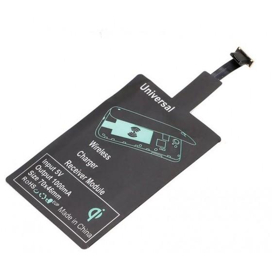 Récepteur de charge sans fil avec Patch de réception pour téléphones Micro USB Type A