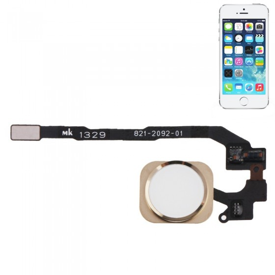 Bouton Home OR + Nappe complet - iPhone 5S**