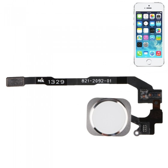 Bouton Home Noir Touch ID + Nappe complet - iPhone 5S