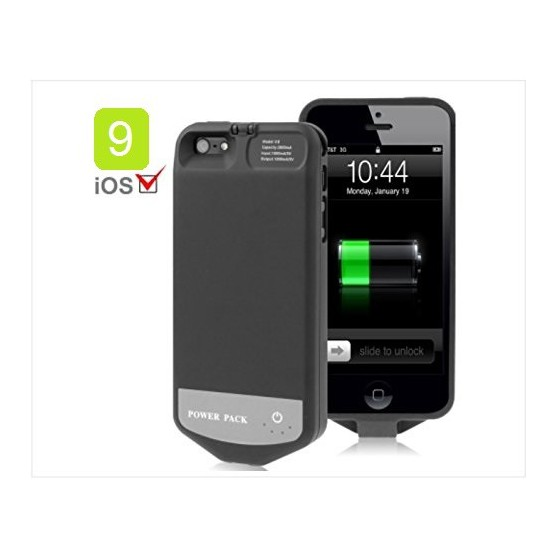 Coque Batterie , Capacité 2800mAh, 8 Pin, IOS 9.0 pour iPhone 5, 5S